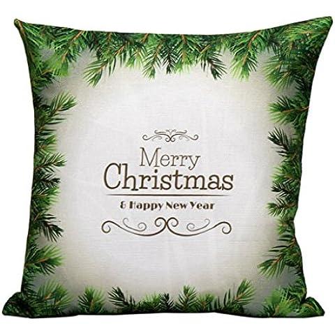 Sannysis Fundas cojín, Funda de almohada para navidad decoracion cojines (S)