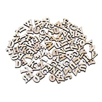 Yinew English alphabet Wood Chip Lower Case Letters Block Teaching Materials Art Craft Early Learning Educational Toy For Child