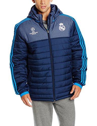 adidas Real EU PAD JKT - Anorak para hombre, color azul marino / azul / blanco, talla XL