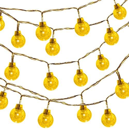 kette, 50LED Warm Farbe Fairy Starry Licht für Garten, Hochzeit, Weihnachten, Party (batteriebetriebenen, 16Feet/5Meter) (Halloween Auge Kontakte)