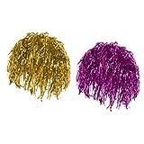MagiDeal Confezione da 2 Pezzi Donne Parrucche Lamina d'oro Lucido Oro Rosa Metallizzato Parrucca Canutiglia Costume Fancy Dress Forniture per Feste