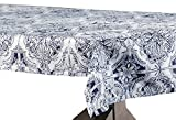 Halben Preis Drapes Delft Designer Kunstseide Taft Tischdecke, blau, 54x 84