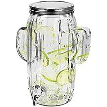 Dispensador de bebidas 4 litros B23 X T15 x H29 cm Incluye grifo diseño de cactus