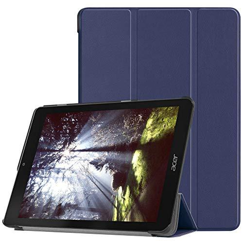 Kepuch Custer Acer Chromebook Tab 10 Hülle - Shell Schutzhülle PU Tasche Smart Case Cover für Acer Chromebook Tab 10 - Blau