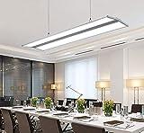 OOFAY LIGHT Pendelleuchte LED Panel Lampen, Hängeleuchte Büro Weiß Licht, Moderne Rechteck Design Leuchte, Büroleuchte Arbeitszimmer Beleuchtung, Aluminium Acryl, Panellampe H&oum