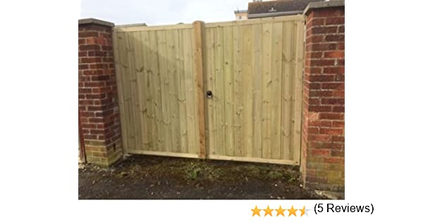 Driveway Gates 4ft Wide X 6ft Tall Each Amazoncouk Garden