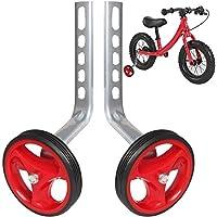 PengXiang ruedines para Bicicleta Infantil 12, 14, 16, 18y 20Pulgadas, 1par Seguridad ruedines, Niño, Rojo