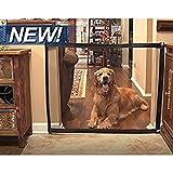 Footprintse Praktische Design Portable Haustier Hund Isolation Net Große Größe Durable Pet Sicherheit Gehäuse Net Haushalt Haustier Hund Supplies-Farbe: schwarz