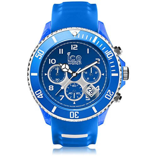Ice-Watch - ICE sporty Blue White - Montre bleue pour homme avec bracelet en silicone - Chrono - 001340 (Extra Large)