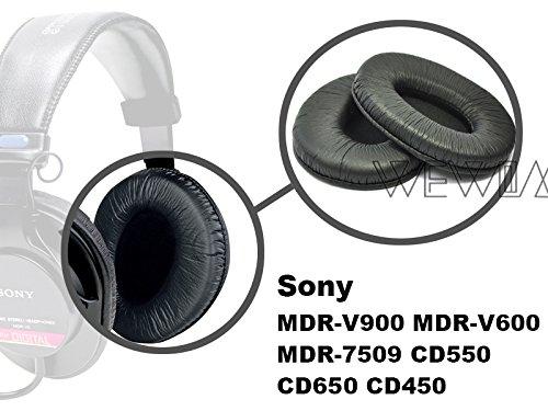 WEWOM 2 Hochwertige Ersatz Ohrpolster für Sony MDR-V900 MDR-V600 MDR-7509 Hifi Kopfhörer - 6