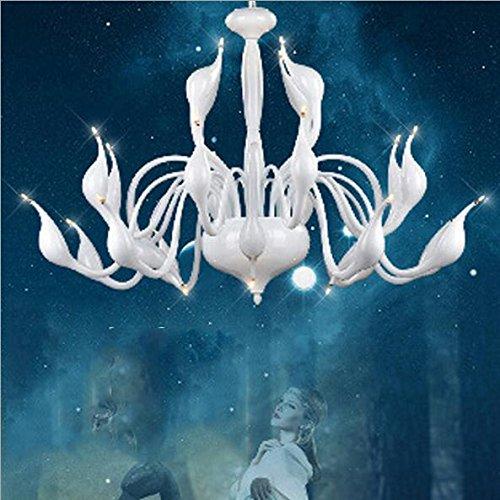 OLQMY-Lampadari decorativi cigno di cristallo europeo 24 , (Famiglie Luce Ciondolo Pendente)