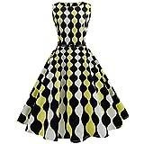 ESAILQ Vintage 1950's Audrey Classique Hepburn pin-up Robe de Soirée Cocktail, Style années 50 (A2, XL)