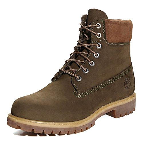 Timberland AF 6 In Prem Dark Olive Nubuck CA17XP, Boots Dark Oliv