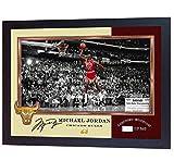 SGH SERVICES Gerahmtes Poster mit Autogramm von Michael Jordan Chicago Bulls NBA mit Autogramm, Vordruck, Basketball, Memorabilia, NBA signierter Autogramm, Fotodruck mit gerahmtem MDF-Rahmen