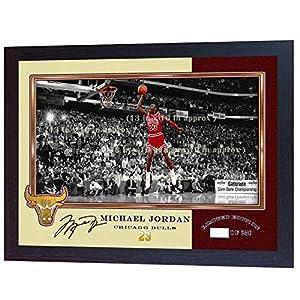 SGH SERVICES Gerahmtes Poster mit Autogramm von Michael Jordan Chicago Bulls NBA mit Autogramm, Vordruck, Basketball…