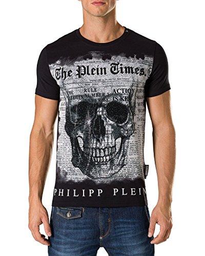 Philipp plein - maglietta da uomo use - nero, m