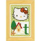 Vervaco - Kit para cuadro de punto de cruz, diseño de Hello Kitty con la letra T, multicolor