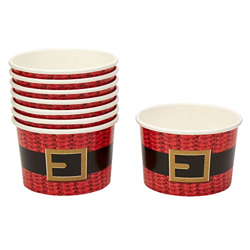 Neviti Dear Santa Christmas Party Paper Treat Tubs - Pack of 8