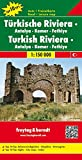 Freytag Berndt Autokarten, Türkische Riviera - Antalya - Kemer - Fethiye, Top 10 Tips - Maßstab 1:150 000 - Freytag-Berndt und Artaria KG