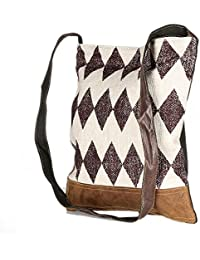 Attractive White Color Leather And Rug Tote Shoulder Bag Stylish Shopping Casual Bag Foldaway Travel Bag