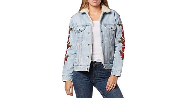 Levi's ® EX BF Sherpa Trucker W veste en jean roses package