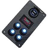 Rupse Interrupteur à Bascule On- Off LED Panneau Double USB Chargeur de Voiture Voltmètre Gauge de Capacitance pour Voitures Bateaux avec Protection de Surcharge