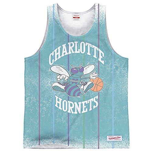 Charlotte Hornets Mitchell & Ness NBA Clock Violation Color Fade Tank Top Shirt Chemise