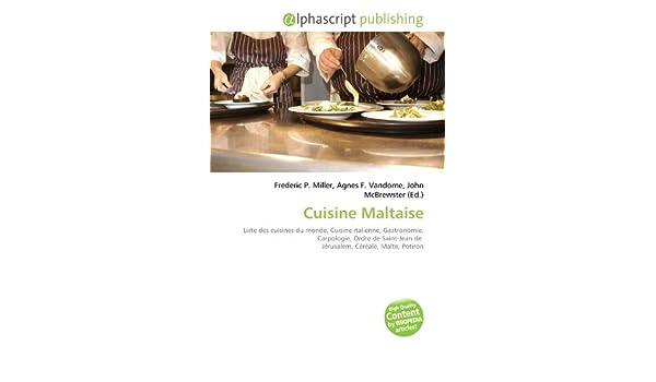 Amazon Fr Cuisine Maltaise Liste Des Cuisines Du Monde