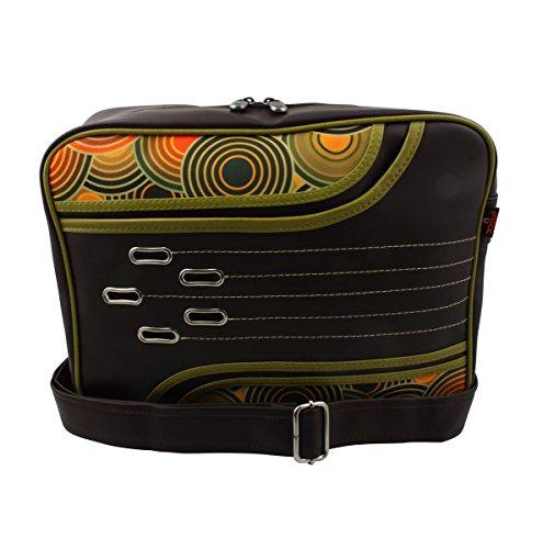 Superfreak® Tasche 70s Up Umhängetasche Serie S-7041, alle Muster!!! brown dark