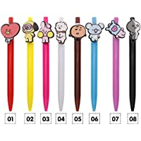 Bolígrafo con diseño de dibujos animados de los BTS Bangtan Boys BT21, de Kinbelle