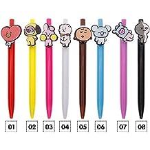 Bolígrafo con diseño de dibujos animados de los BTS Bangtan Boys BT21, ...