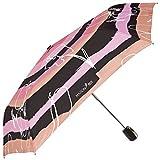 Ombrello pieghevole rosa da donna apri e chiudi – mini leggero e antivento con struttura flessibile e resistente - Elegante e compatto da viaggio e da borsetta - Maison Perletti
