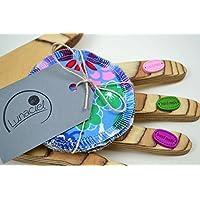 Kosmetikpads aus Bio-Baumwolle, 5 Stück, Abschminkpad, Babypflege, Reinigungspad, Familie, Baby, Kinder, beige, natur, blau, rosa, grün