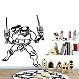 zqyjhkou Bande Dessinée Adolescente Mutant Ninja Tortues Amovible Vinyle Stickers Muraux Affiche Décor pour Les Chambres d'enfants Décoration Vinyle Art Decal XL 57 cm X 70 cm
