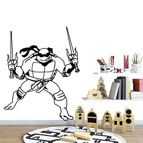 zqyjhkou Cartoon Teenage Mutant Ninja Turtles Abnehmbare Vinyl Wandaufkleber Poster Dekor Für Kinderzimmer Dekoration Vinyl Kunst Aufkleber XL 57 cm X 70 cm