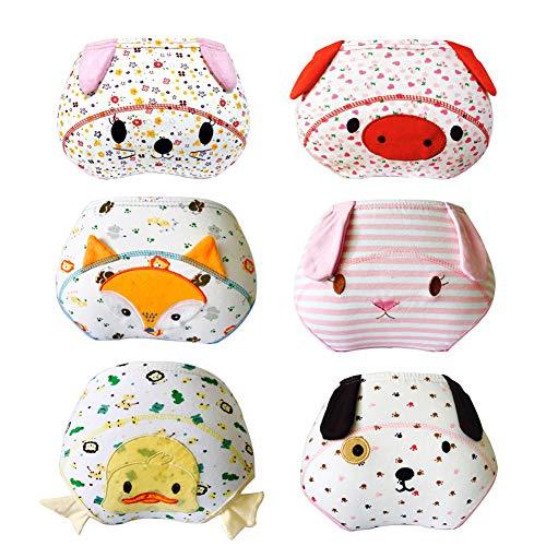 Lazzon Baby Trainerhosen Unterhosen Baumwolle Töpfchentraining Unterwäsche für Baby 1 bis 3 Jahre 6er Pack