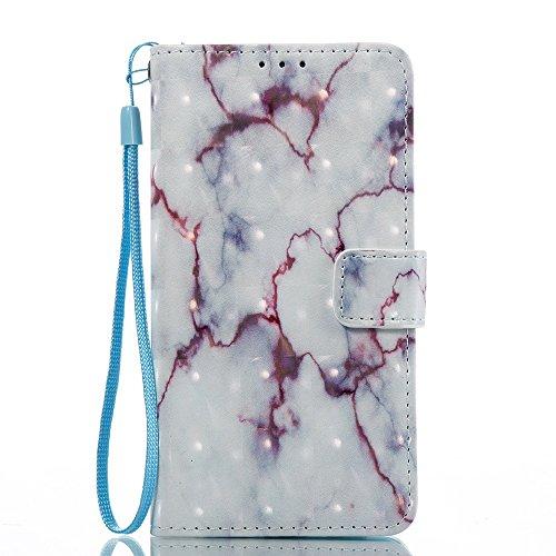 Marmor Stein Grain Texure Muster PU Ledertasche Cover, Retro Bookstyle Flip Stand Case mit Magnetverschluss & Card Slots & Lanyard für Samsung Gaalxy J510 J5 2016 ( Color : A ) E