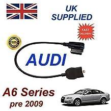 AUDI A6 Series Pre MY 2009 generación 2 AMI MMI cable de Audio para iPhone 5, 5c 5s 6 y 6 Plus funciona con 8 pin conexión y AUX 3,5 mm enchufe por cable cablesnthings