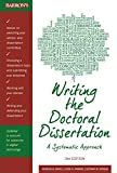 Writing The Doctoral Dissertation, 3rd edition