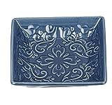 Wenko Seifenablage Cordoba Blau Seifenschale, Keramik, Dunkelblau, 10.5 x 10.5 x...