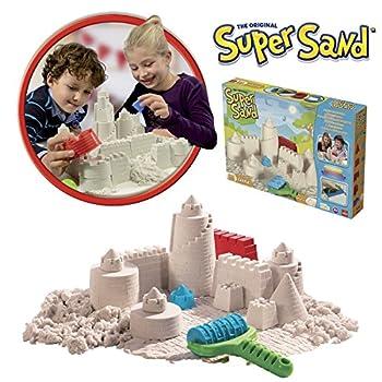 Goliath 83219 - Super-sand-set Castle, Modellierbarer Magischer Sand Bringt Burgen Ins Kinderzimmer, Handliche Sandkasten-box, Bunte Burg-förmchen, Ab 4 Jahren 1