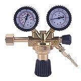 OUTAD Argon CO2 Gas Druckminderer Druckregler mit Absperrventil für MIG MAG WIG TIG Schutzgas Schweißgerät