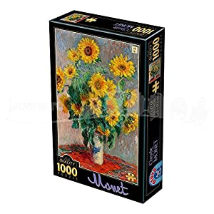 D-Toys 75864/CM 08 Monet Claude Bouquet of Sunflowers - Puzzle (1000 Piezas)