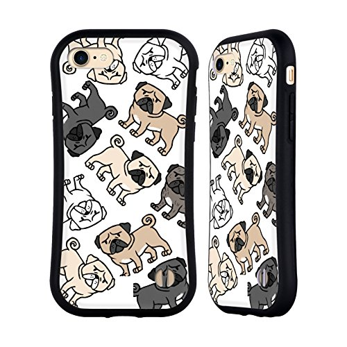 Head Case Designs Französische Bulldogge Hunderasse Muster Hybrid Hülle für Apple iPhone 6 / 6s Mops