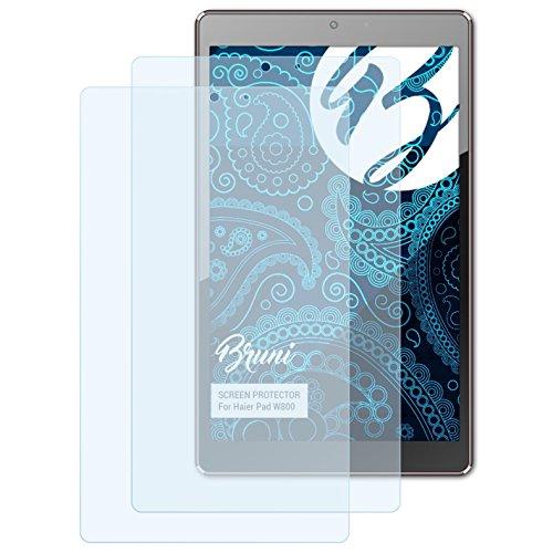 Bruni Schutzfolie für Haier Pad W800 Folie, glasklare Bildschirmschutzfolie (2X)