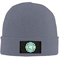 gdingxiansunyunjiaf Irish Fireman Unisex Warm Winter Hat Knit Beanie Skull Cap Cuff Beanie Hat Winter Hats Deep Heather