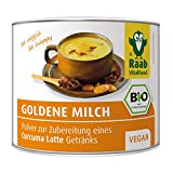 Raab Vitalfood Bio Goldene Milch Pulver für Curcuma Latte/Kurkuma mit Curcumin, Heißgetränk, vegan, glutenfrei, laktosefrei, 1er Pack (70 g)