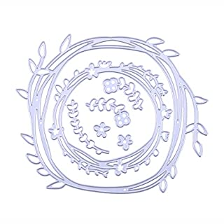 Amazingdeal365 Olive DIY Metall Form Stanzschablonen Schablonen Schneiden DIY Dekor Sammelalbum Karten Buchzeichen Lesezeichen als Geschenk für Freunde Geburtstag Kinder,Kindergarten Hobby Schule Handarbeit Unterricht usw. Ein tolles Geschenk!