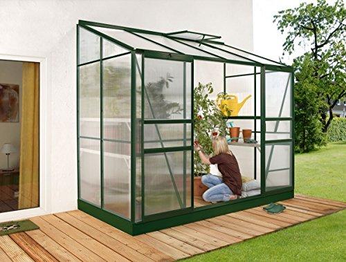 Vitavia Anlehngewächshaus Ida 3300 HKP 4 mm 3,30 m², dunkelgrün