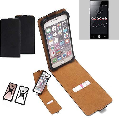 K-S-Trade Flipstyle Hülle für ID2ME ID1 Handyhülle Schutzhülle Tasche Handytasche Case Schutz Hülle + integrierter Bumper Kameraschutz, schwarz (1x)